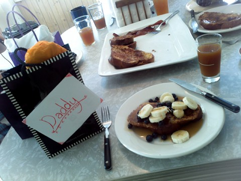 sugar, spice (challah, bananas, blueberries, maple syrup, coffee!!!, the love of daughter) and everything nice :)