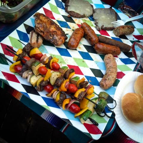 the skewers, links, breasts and patties of memorial day