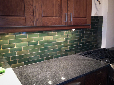 backsplash in progress