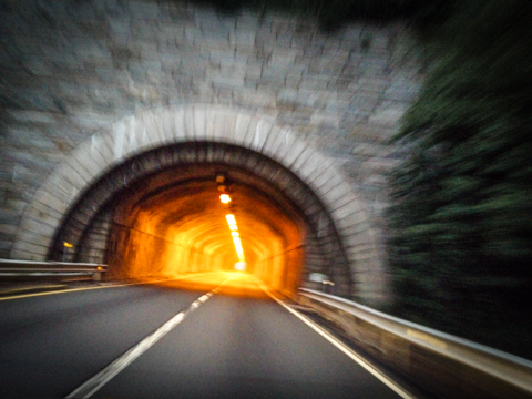 northbound tunnel vision. merritt pkwy