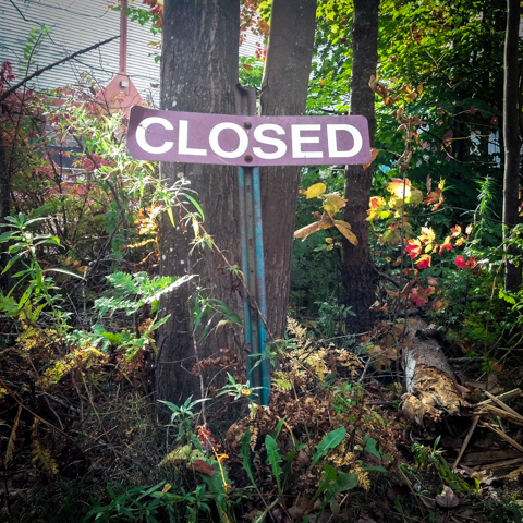not exactly a walk in the park - sign of government shutdown - day 5