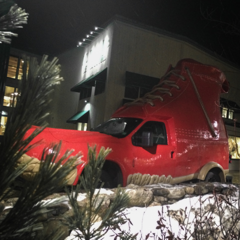 if the shoe doesn't fit - double park it outside the flagship retail store