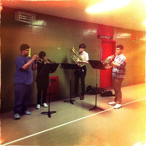 the all of a sudden hallway quartet