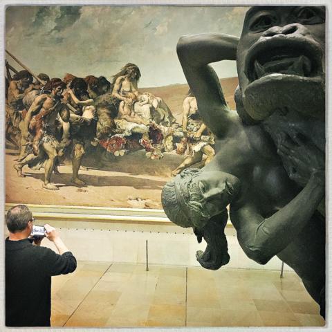 gorille enlevant une femme (gorilla removing a woman) emmanuel frémiet, 1887