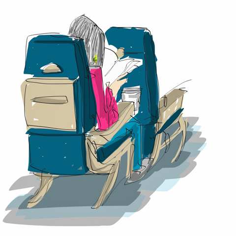 seat 9a flies through her novel