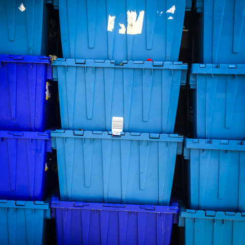 bins of blues