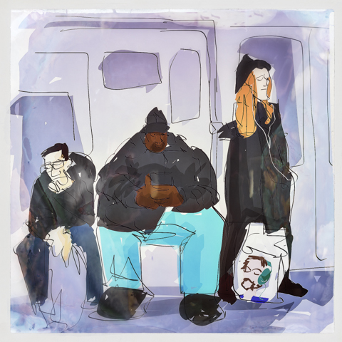 the post-rush hour Q train crew