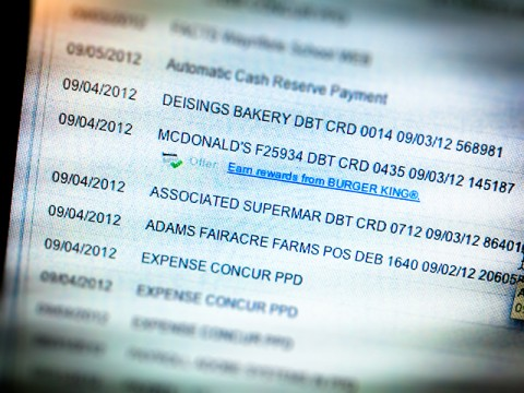 the whopper© in your digital check book register