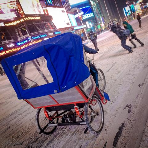 winterized urban rickshaw