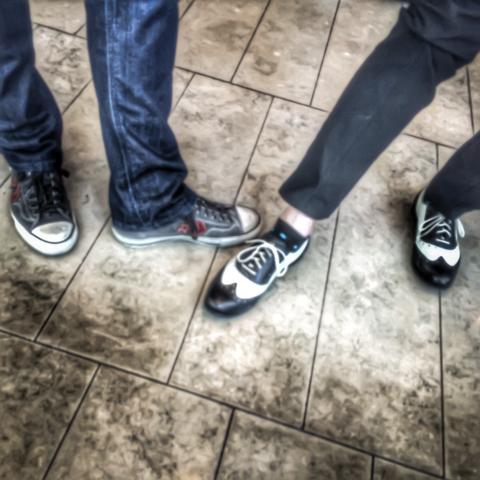 some fancy feetwork