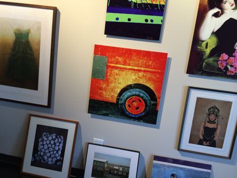 new work: 'driving wheel' at VoxPhotographs gallery new location - the Design Center, 334 Forest Ave. Portland, Maine