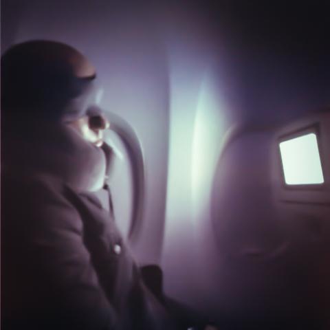 late night at 37,000 feet