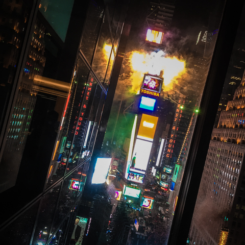 new year's eve, times square: brought to you by Toshiba® and a bunch of other brands