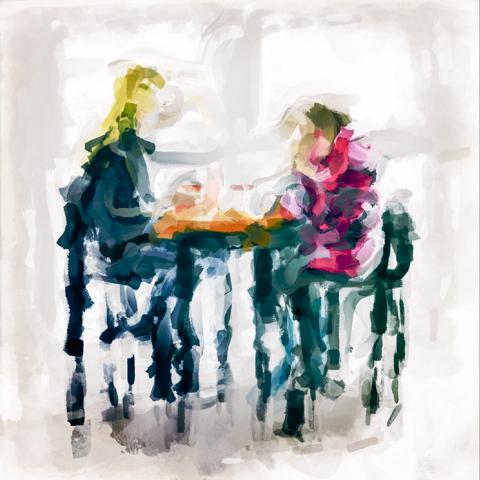 café finger paint