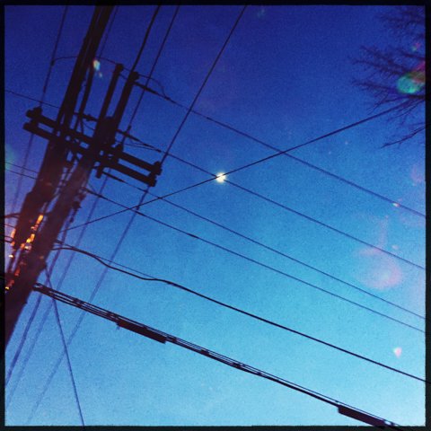 power lines and moon shine