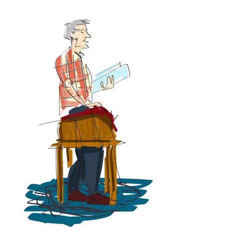 scott nash reads from his new book, shrunken treasures, at longfellow books, portland, maine.