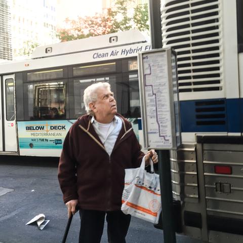 man vs bus map