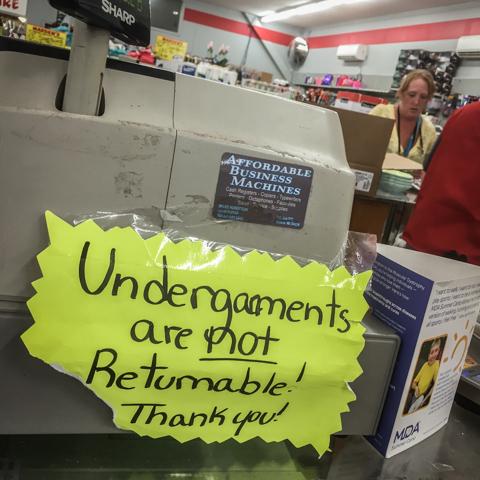 the joys of working liquidation retail