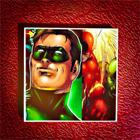 green lantern dealt it, flash smelt it